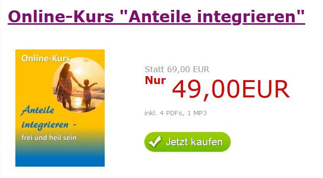 Online-Kurs Anteile integrieren nur 49 Euro